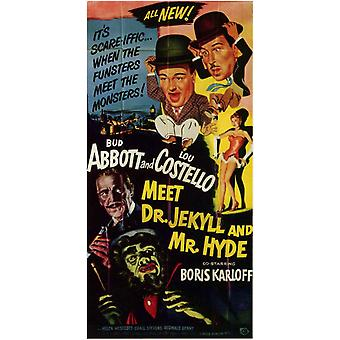 Abbott and Costello Meet Dr Jekyll and Mr Hyde Movie Poster (11 x 17)