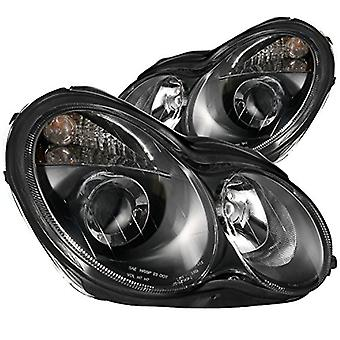 Anzo USA 121079 Mercedes-Benz Projector Black Headlight Assembly - (Sold in Pairs)