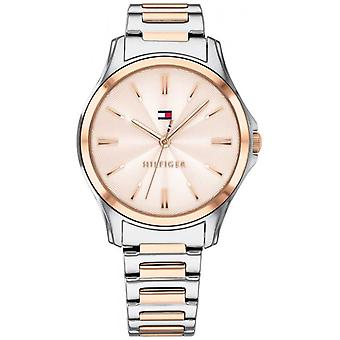 Tommy Hilfiger Womens Two Tone Rose Gold Plated Rose Gold Dial 1781952 Watch