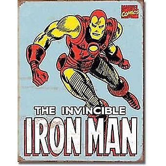 Iron Man Metal Sign