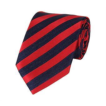 Schlips Krawatte Krawatten Binder 8cm rot blau gestreift Fabio Farini