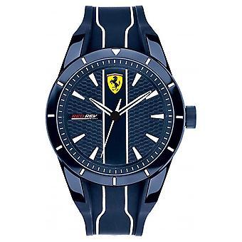 Scuderia Ferrari Mens Redrev blaues Zifferblatt blau Kautschuk Armband 0830541 Uhr