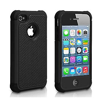 Stuff Certified ® Apple iPhone 5S - Hybrid Armor Case Cover Cas Silicone TPU Case Black