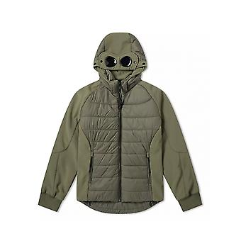 C.P. Company Undersixteen C.P. Company Undersixteen Sage Green Down Filled Goggle Soft Shell Jacket