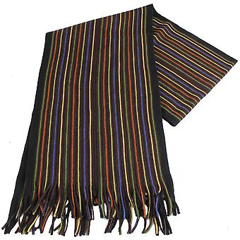 Bassin and Brown Simpson Striped Wool Scarf - Brown/Multi-colour
