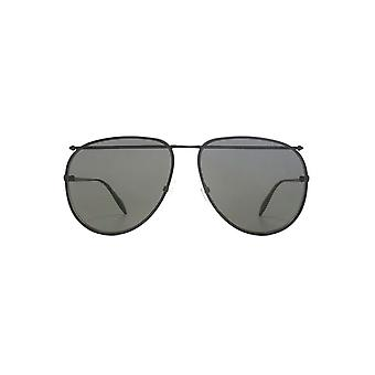 Alexander McQueen Edge Piercing Pilot Sunglasses In Black