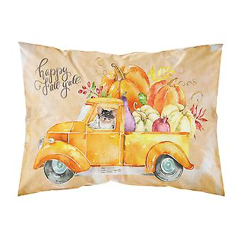 Fall Harvest Long Haired Chihuahua Fabric Standard Pillowcase