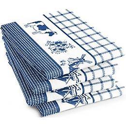 DADDY Tea towel Farmlife blue 60x65cm