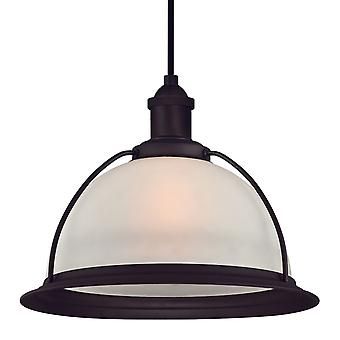 One Light Indoor Pendant RETRO Oil Rubbed Bronze with Frosted Glass