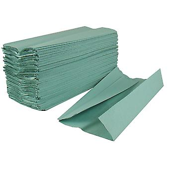 Staples Green Centre Fold 1 Ply Hand Towels
