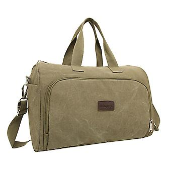 Green Weekender bag or Holdall of durable fabric