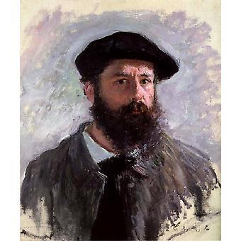 Self-Portrait, Claude Monet, 56x46cm