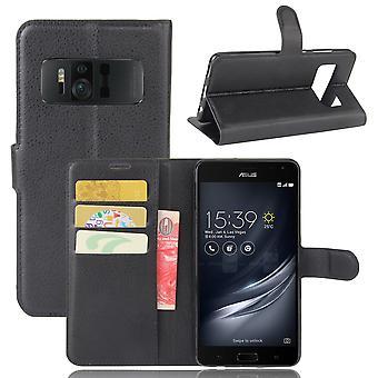 Asus Zenfone AR ZS571KL Litchi Wallet Pouch-Black
