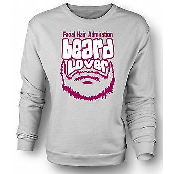 Mens Sweatshirt skjegg elsker - Funny