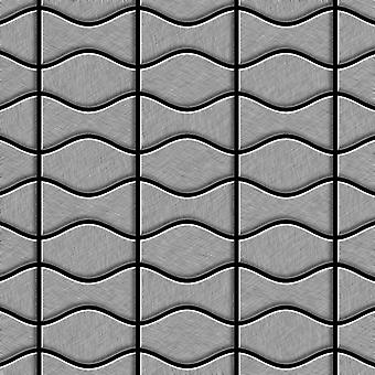 Mosaico de metal sólido Acero inoxidable ALLOY Kismet-Karma-S-S-MB