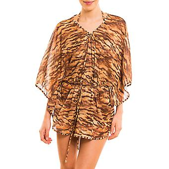 Kiniki Sara Tan Through Beach Poncho Womens Swimwear
