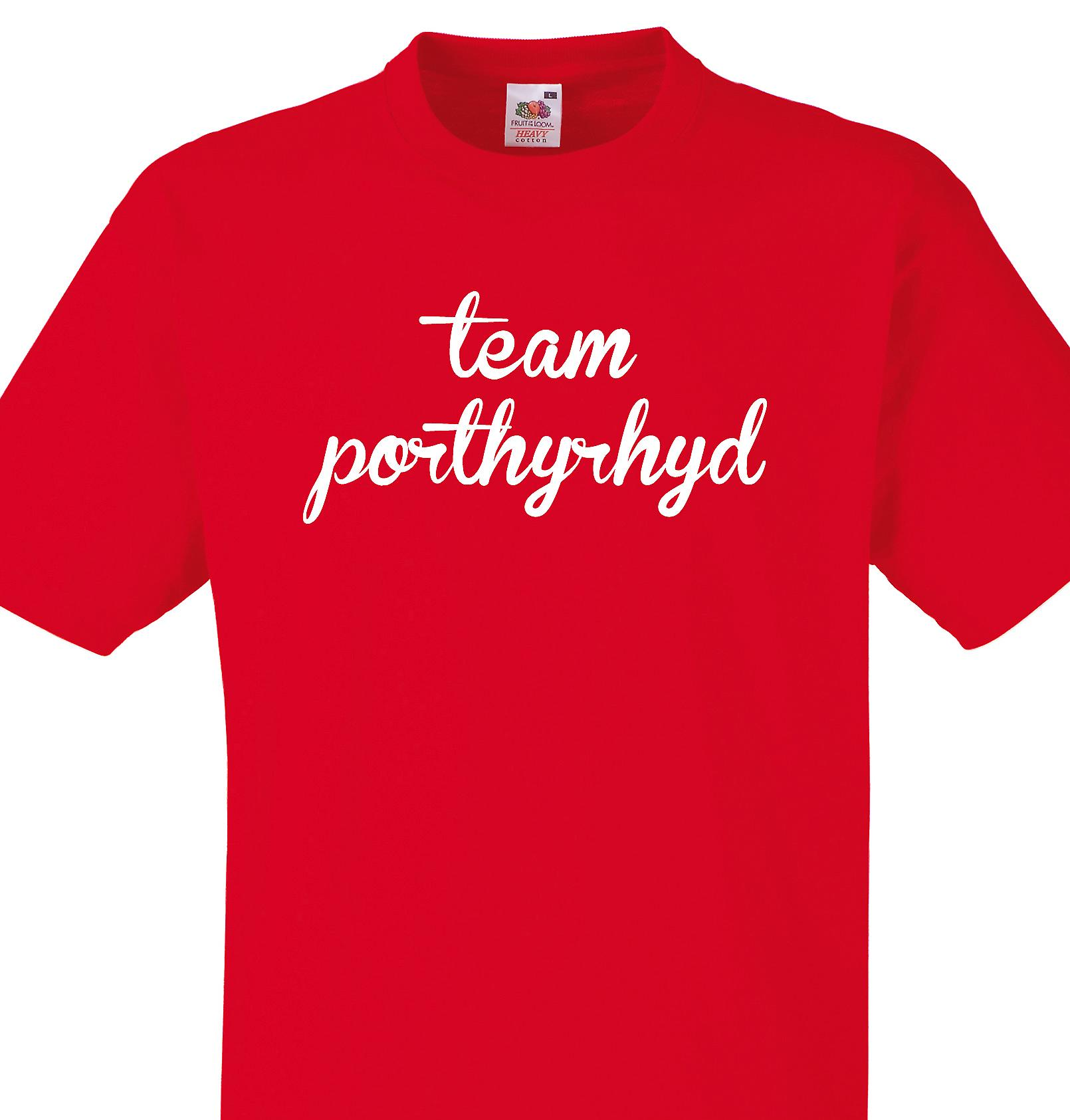 Team Porthyrhyd Red T shirt