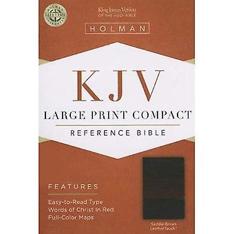 KJV LARGE PRINT COMPACT REFERENCE SADDLE BROWN LEATHERLIKE
