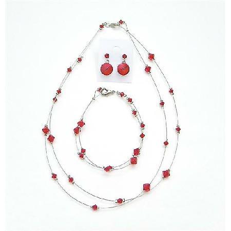 Custom Jewelry Lite Siam Red Attire Affordable Crystal Jewelry