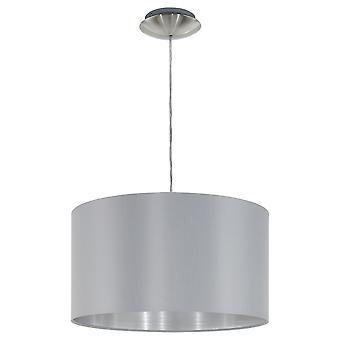 Eglo - Maserlo 1 luz pendente teto luz cetim níquel cinza EG31601