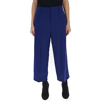 Pantalones de seda púrpura de Prada