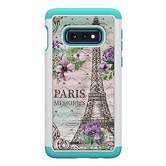 Samsung Galaxy S10e TPU Shell armadura Extra durable-Eiffel y flor