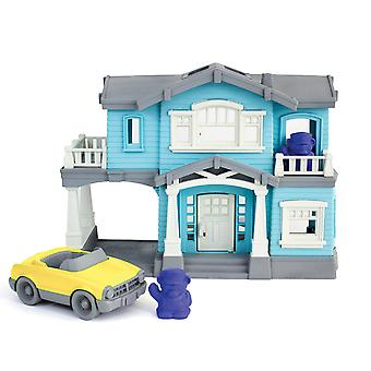 Green Toys House Playset with Accessories 100% Recycled BPA Free Eco Friendly