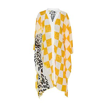 Paramidonna Domino Kaftan Yellow Polyester One-piece Suit