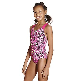 Speedo Comet Crush Allover Splashback Swimwear For Girls