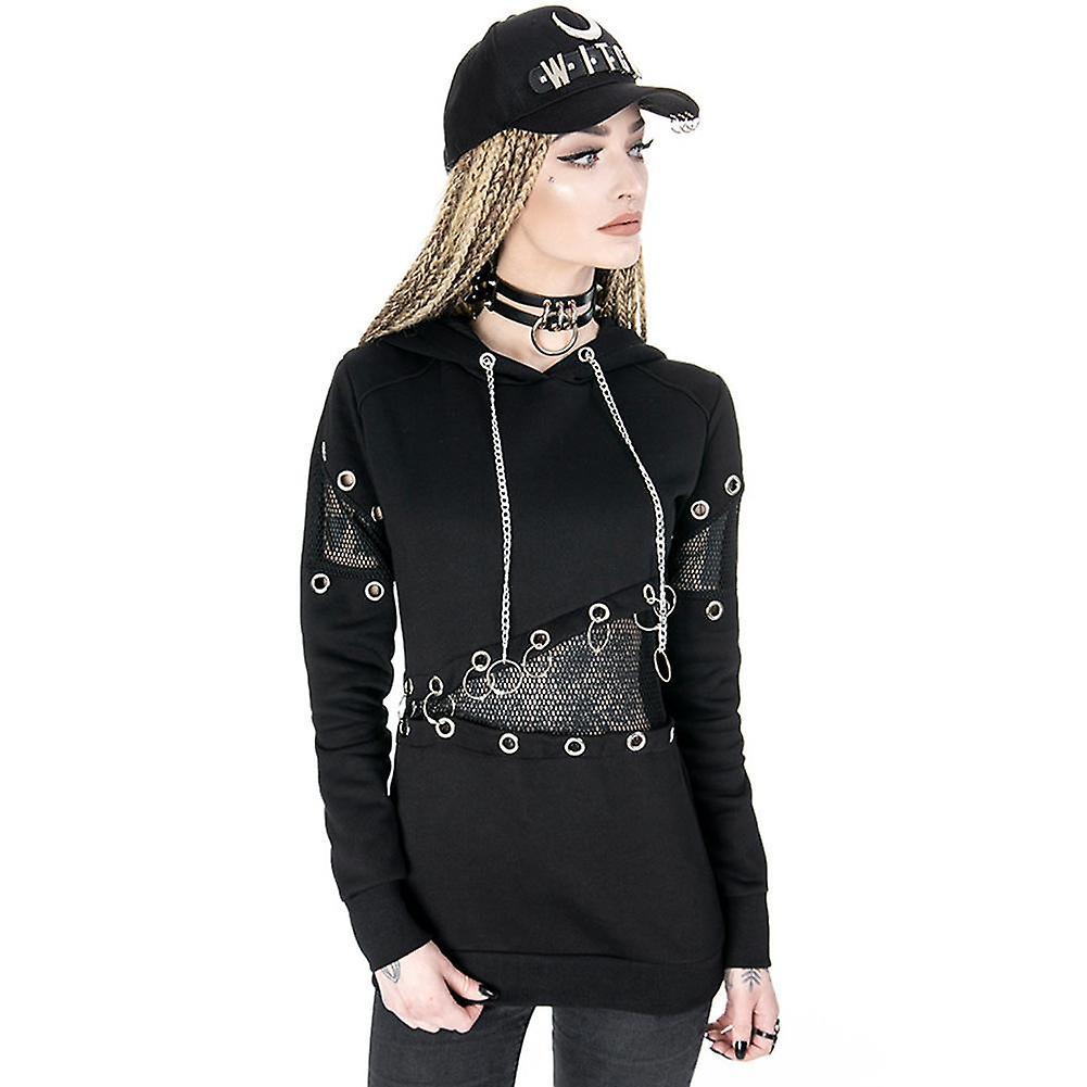 Restyle mesh & eyelets jumper noir jumper,