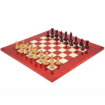 Sovereign Red Sandalwood and Erable Luxury Chess Set