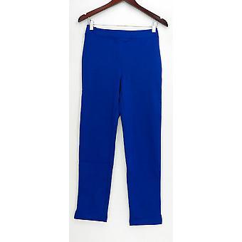 Joan Rivers Classics (XXS) Ponte Knit Pull On Pants Blue A231687
