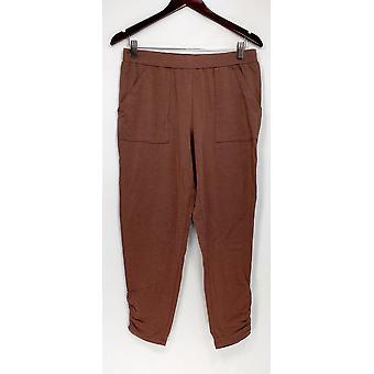 Ninguém mulheres ' s Lounge Pants, shorts do sono Cozy Knit Brown A307835