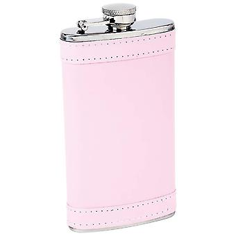 6oz pink leather flask
