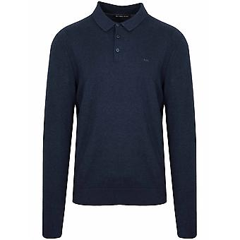 Michael Kors  Michael Kors Navy Long-Sleeve Polo Shirt
