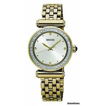 Seiko Womens Gold Plated Steel White Dial SRZ468P1 Watch