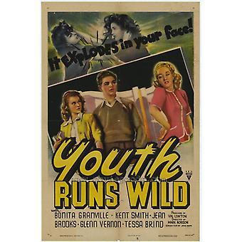 Nuorten toimii luonnossa elokuvan juliste tulosta (27 x 40)