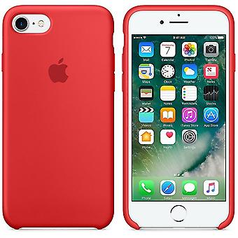 Apple Silicon Micro Fiber cover case for iPhone 8 / 7 - Red