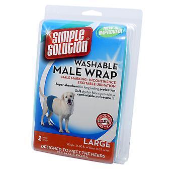Simpel opklaring hund mandlige vaskbar Wrap store