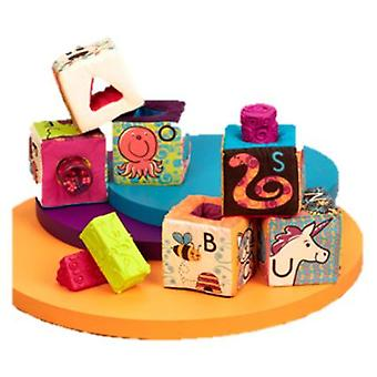B. Set 6 cubes and 5 interchangeable parts ock Abc Party