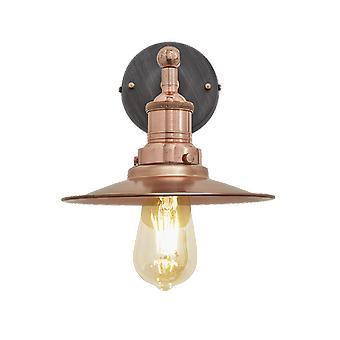 Brooklyn Vintage Antique Sconce Wall Lamp - Flat Shade - Copper - 8