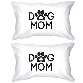 Dog Mom White Cotton Pillowcase Unique Gift Ideas For Dog Lovers