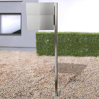 RADIUS stand letterbox Letterman XXL 2 stainless steel including newspaper Professional with post - 568