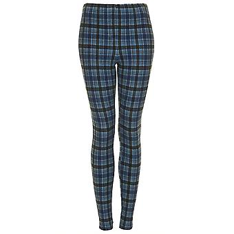 Tall Check Denim Leggings TRS252-10