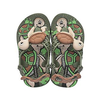 Ipanema Sea Baby Turtle Infant Sandals - Green