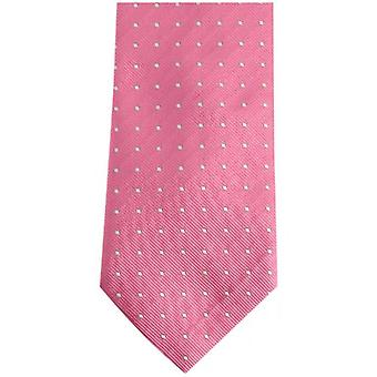 Bassin and Brown Medium Spot Silk Tie - Pink/Navy
