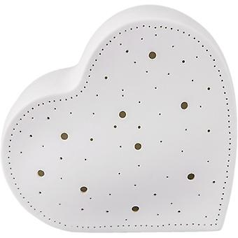 Porseleinen tafellamp hart
