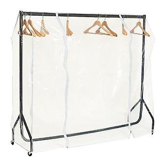 4ft Clear Clothes Rail Covers