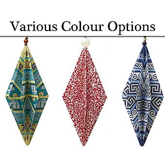 Kit to Make 10 Origami Paper Christmas Baubles - Colour Choice