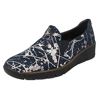 Ladies Rieker Slip su Casual scarpe 53766